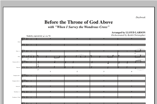 "Before The Throne Of God Above (with ""When I Survey The Wondrous Cross"") - Full Score Sheet Music"