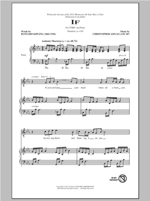If Sheet Music