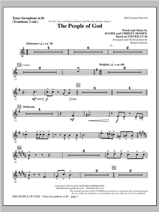 The People Of God - Tenor Sax (sub. Tbn 2) Sheet Music