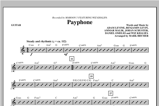 Payphone - Guitar - Sheet Music to Download