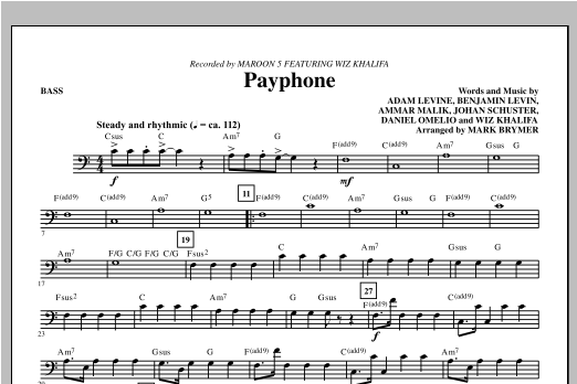 Payphone - Bass Sheet Music