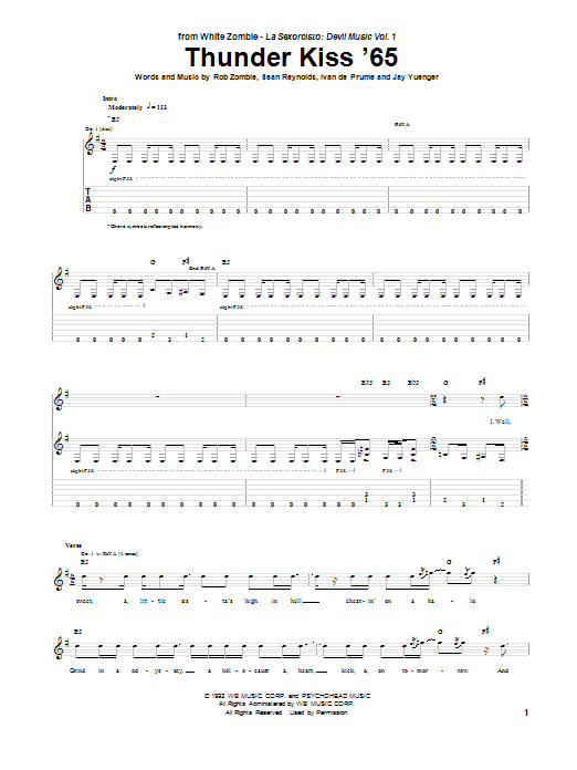 Thunder Kiss '65 (Guitar Tab)