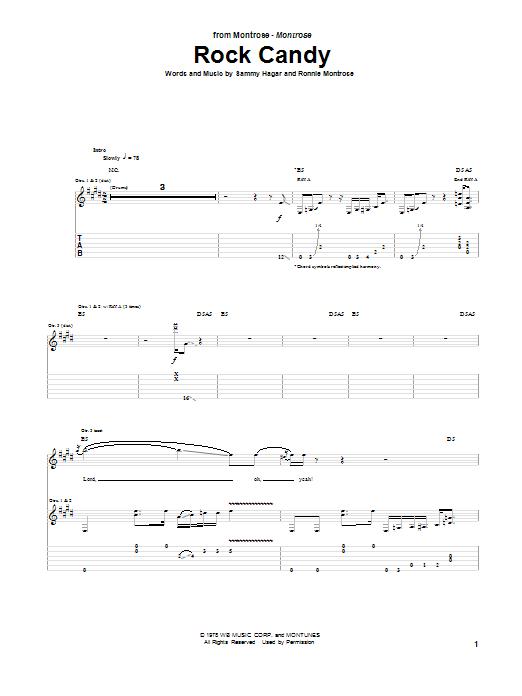 Rock Candy (Guitar Tab)