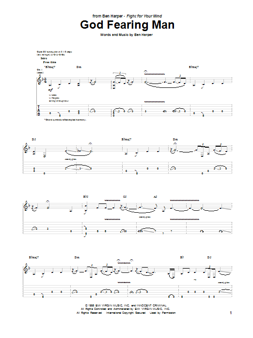 God Fearing Man Sheet Music