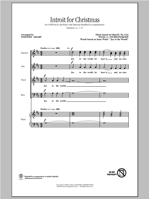 Introit For Christmas (SATB Choir)