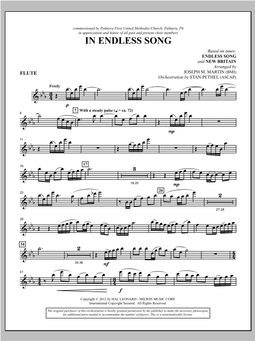 In Endless Song - Flute Sheet Music