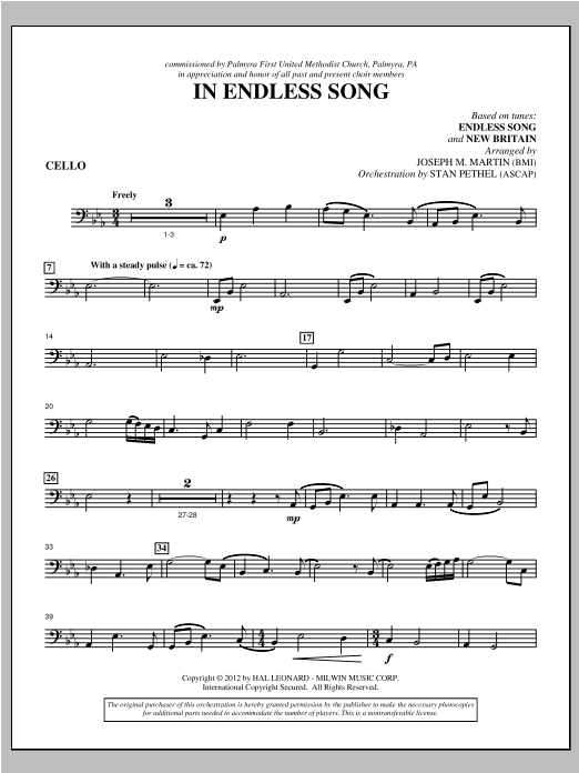 In Endless Song - Cello Sheet Music