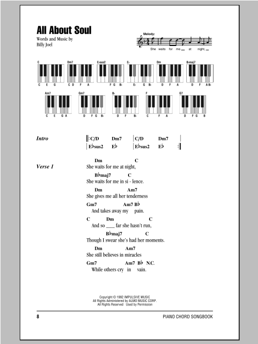 All About Soul Sheet Music