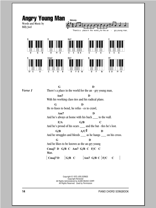 Angry Young Man Sheet Music
