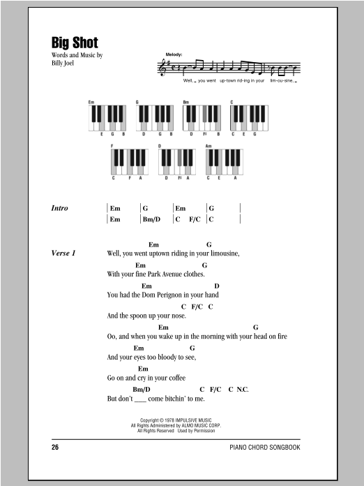 Big Shot Sheet Music Direct