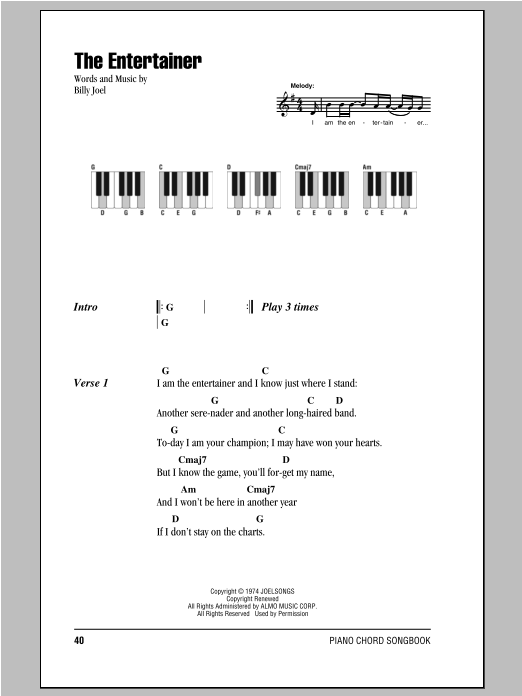 The Entertainer Sheet Music