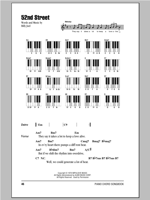 Billy Joel Piano Chord Songbook Sheet Music Hal Leonard Prima