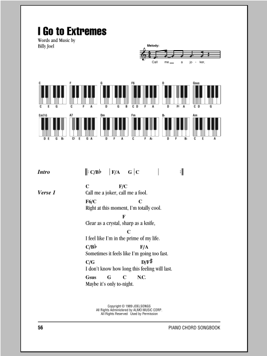 I Go To Extremes Sheet Music