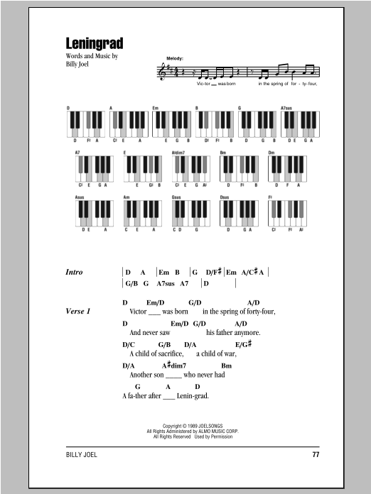Leningrad (Piano Chords/Lyrics)