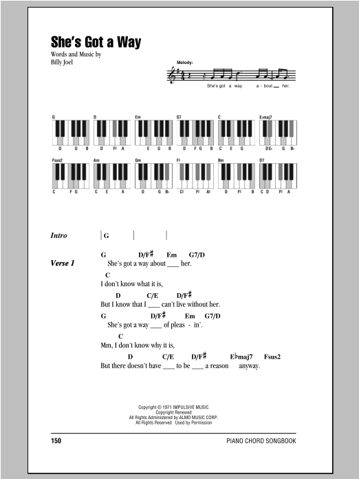 She's Got A Way Sheet Music