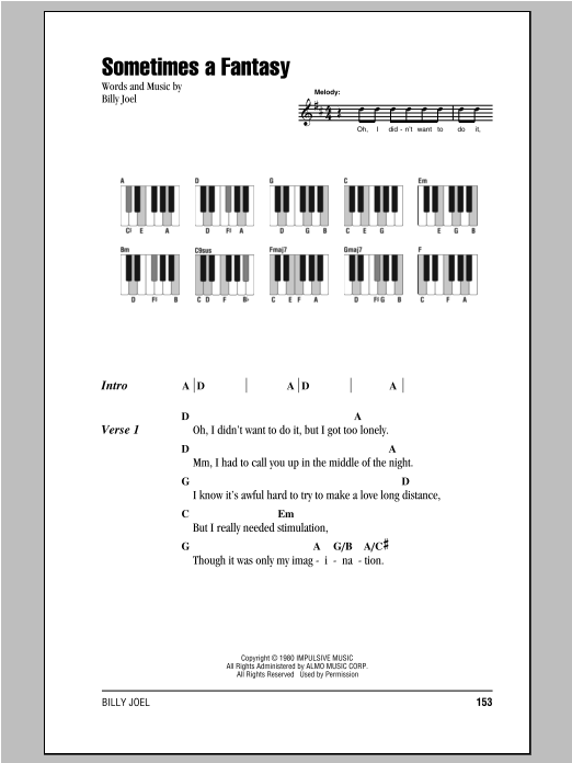Sometimes A Fantasy Sheet Music