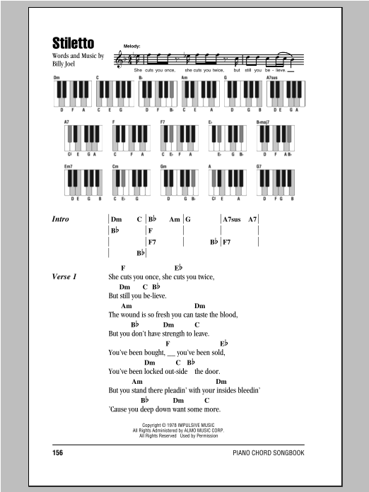 Stiletto Sheet Music