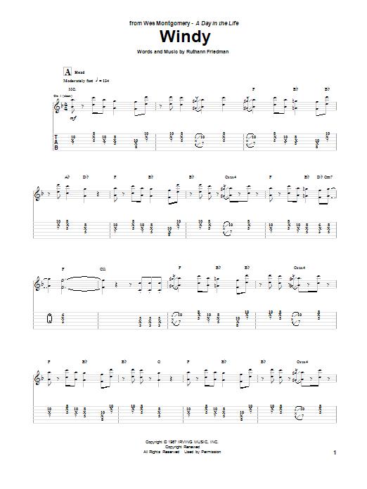 Windy (Guitar Tab)