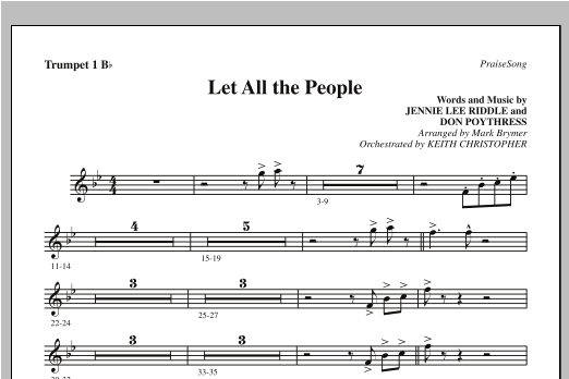 Let All The People - Bb Trumpet 1 Sheet Music