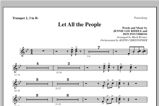 Let All The People - Bb Trumpet 2,3 Sheet Music