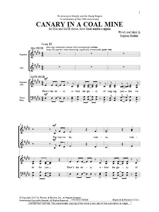 Canary In A Coal Mine (SATB Choir)