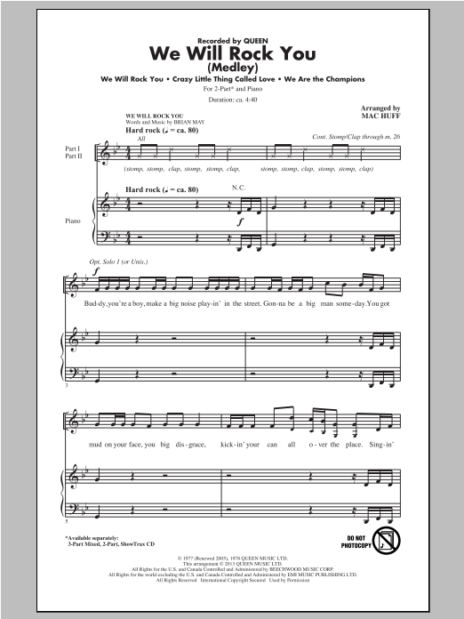 We Will Rock You (Medley) (arr. Mac Huff) Sheet Music