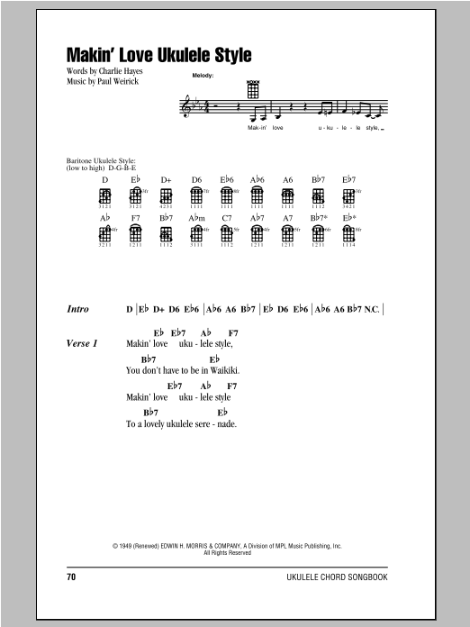 Makin' Love Ukulele Style (Ukulele Chords/Lyrics)