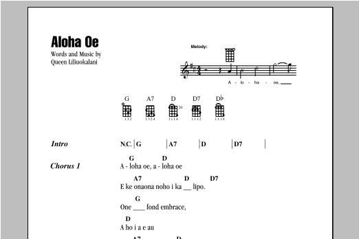 Aloha Oe | Sheet Music Direct
