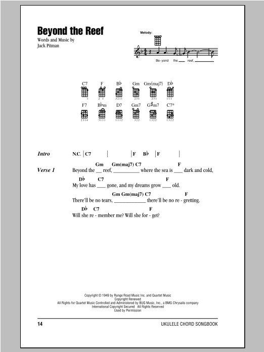 Beyond The Reef Sheet Music
