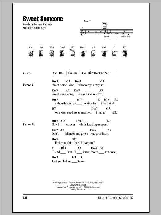 Sweet Someone Sheet Music