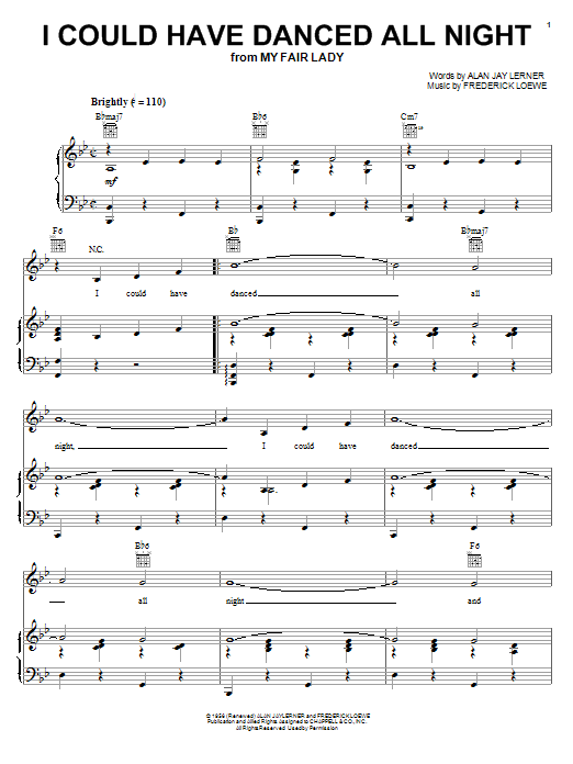 I Could Have Danced All Night Sheet Music