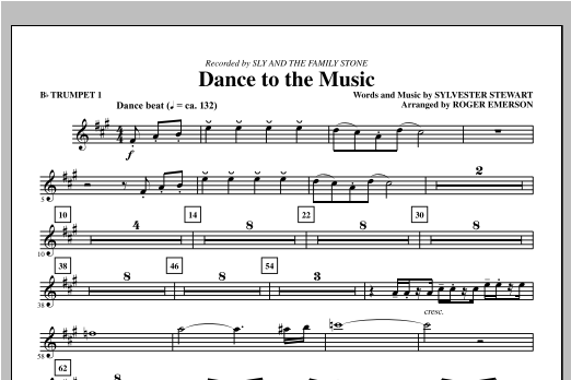 Dance To The Music - Bb Trumpet 1 Sheet Music