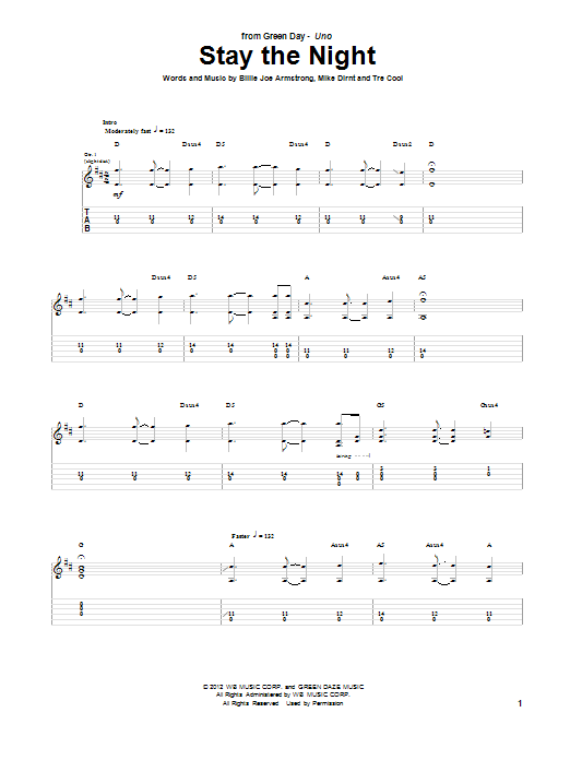 Stay The Night (Guitar Tab)