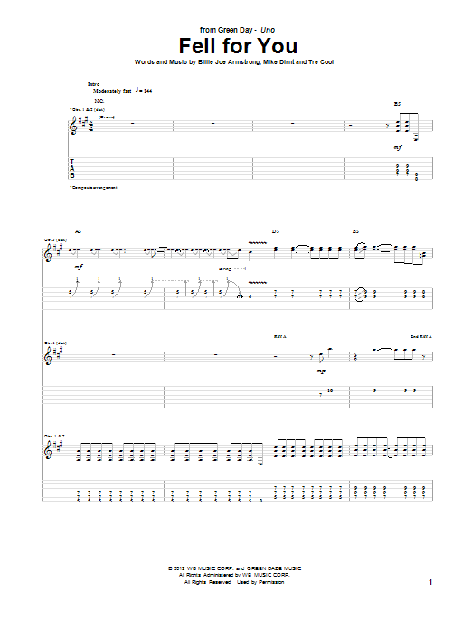 Fell For You (Guitar Tab)