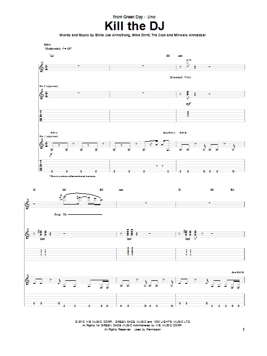 Kill The DJ Sheet Music