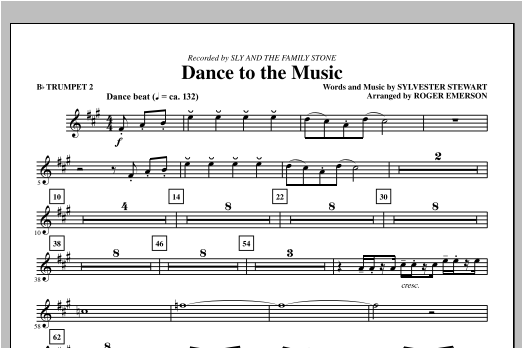 Dance To The Music - Bb Trumpet 2 Sheet Music