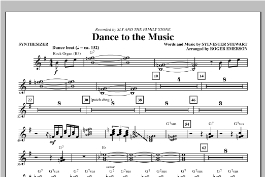 Dance To The Music - Synthesizer Sheet Music