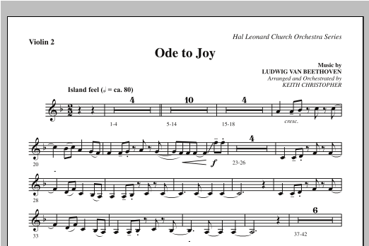 Ode To Joy (Does Not Match SATB 08752035) - Violin 2 Sheet Music