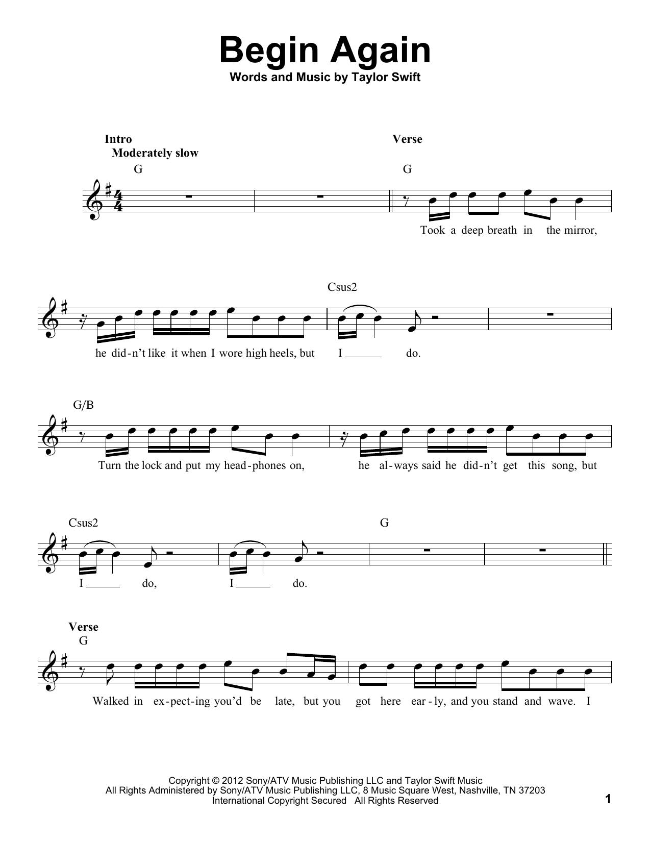 Begin Again (Pro Vocal)