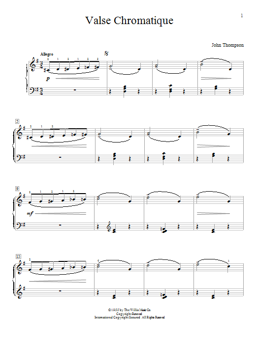 Valse Chromatique Sheet Music