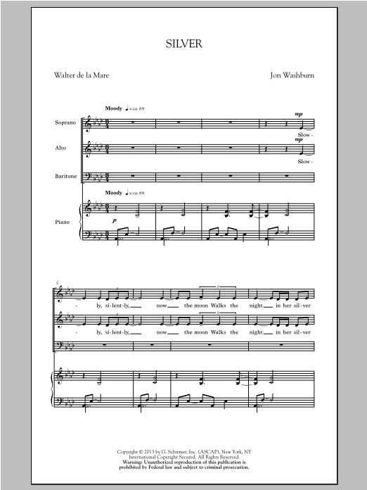 Silver Sheet Music