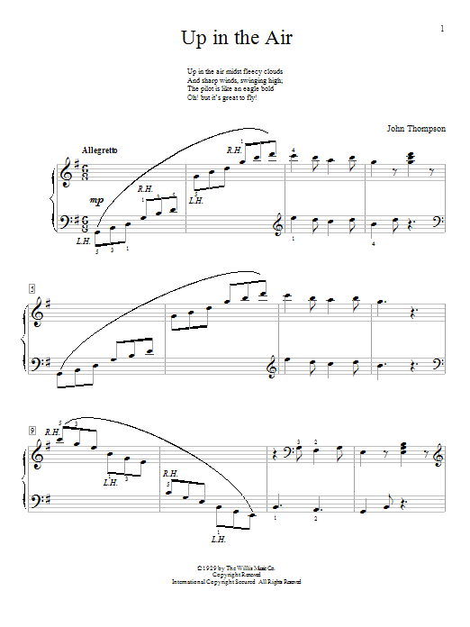 Up In The Air Sheet Music