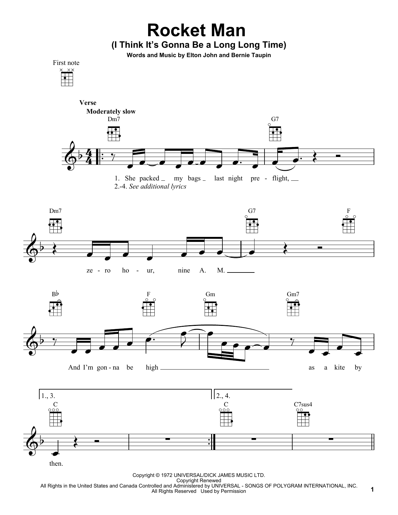 Rocket man i think its gonna be a long long time guitar tab by rocket man i think its gonna be a long long time guitar tab by elton john ukulele hexwebz Choice Image