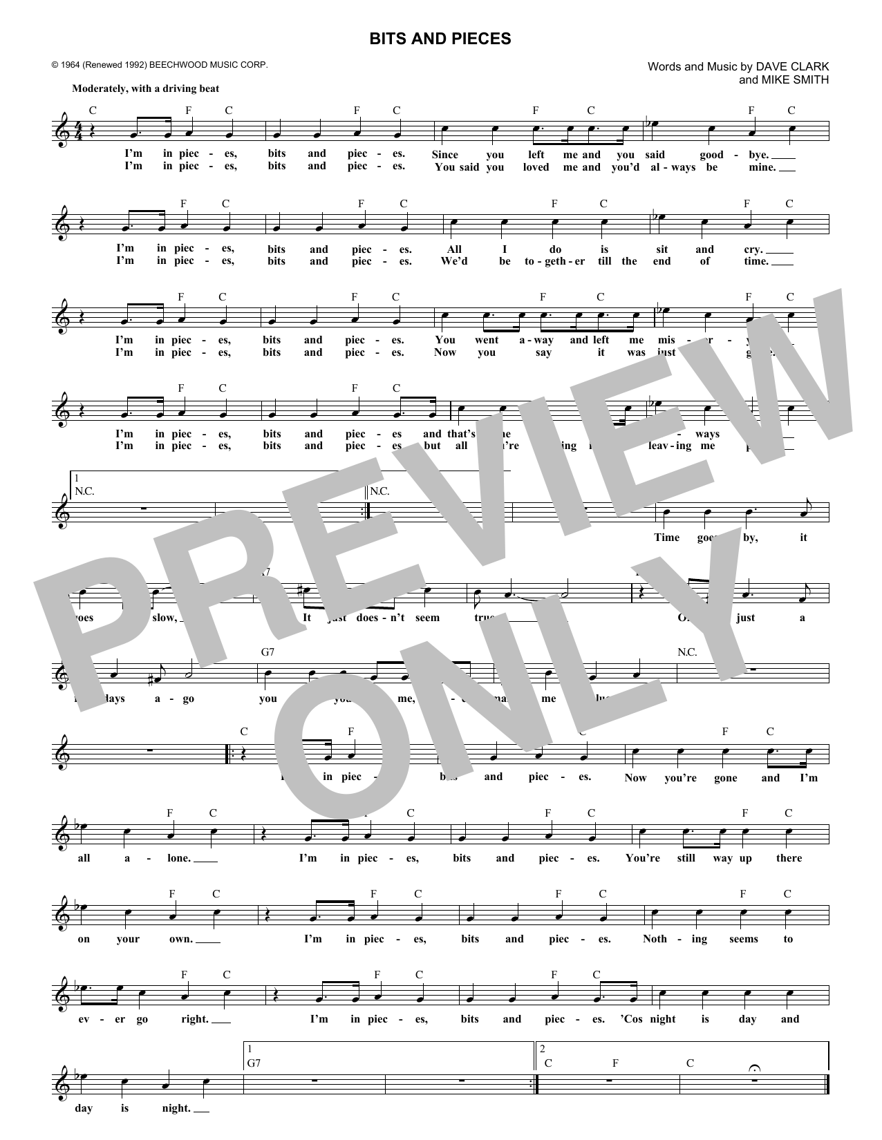 Bits And Pieces (Lead Sheet / Fake Book)