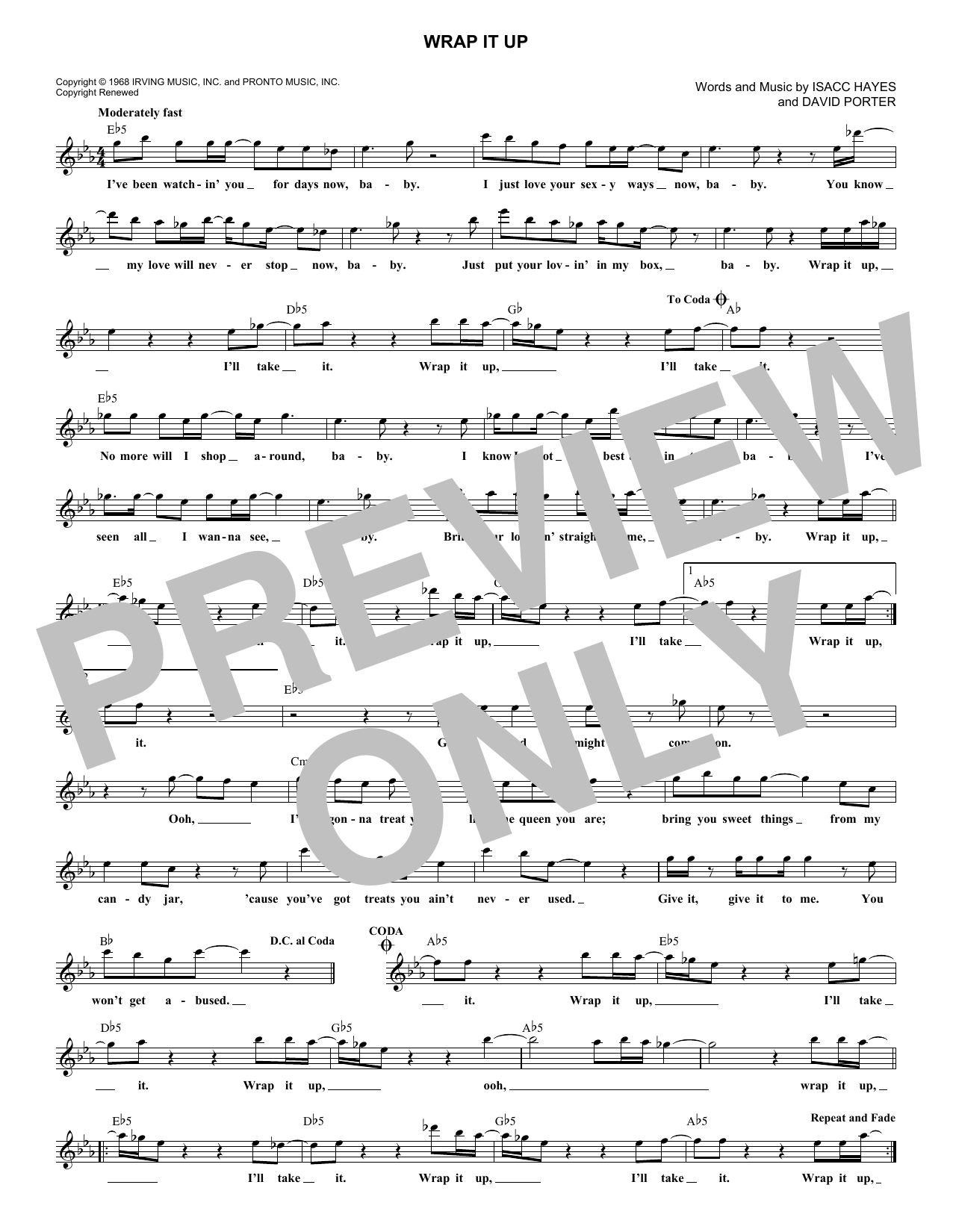 Wrap It Up (Lead Sheet / Fake Book)