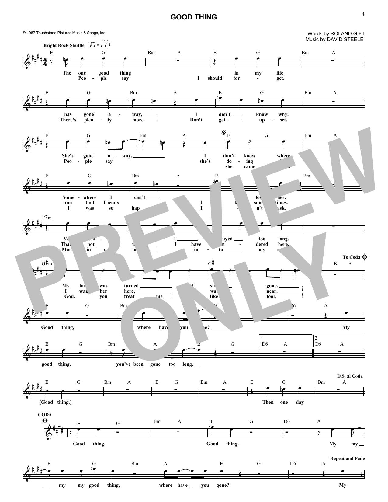Good Thing (Lead Sheet / Fake Book)