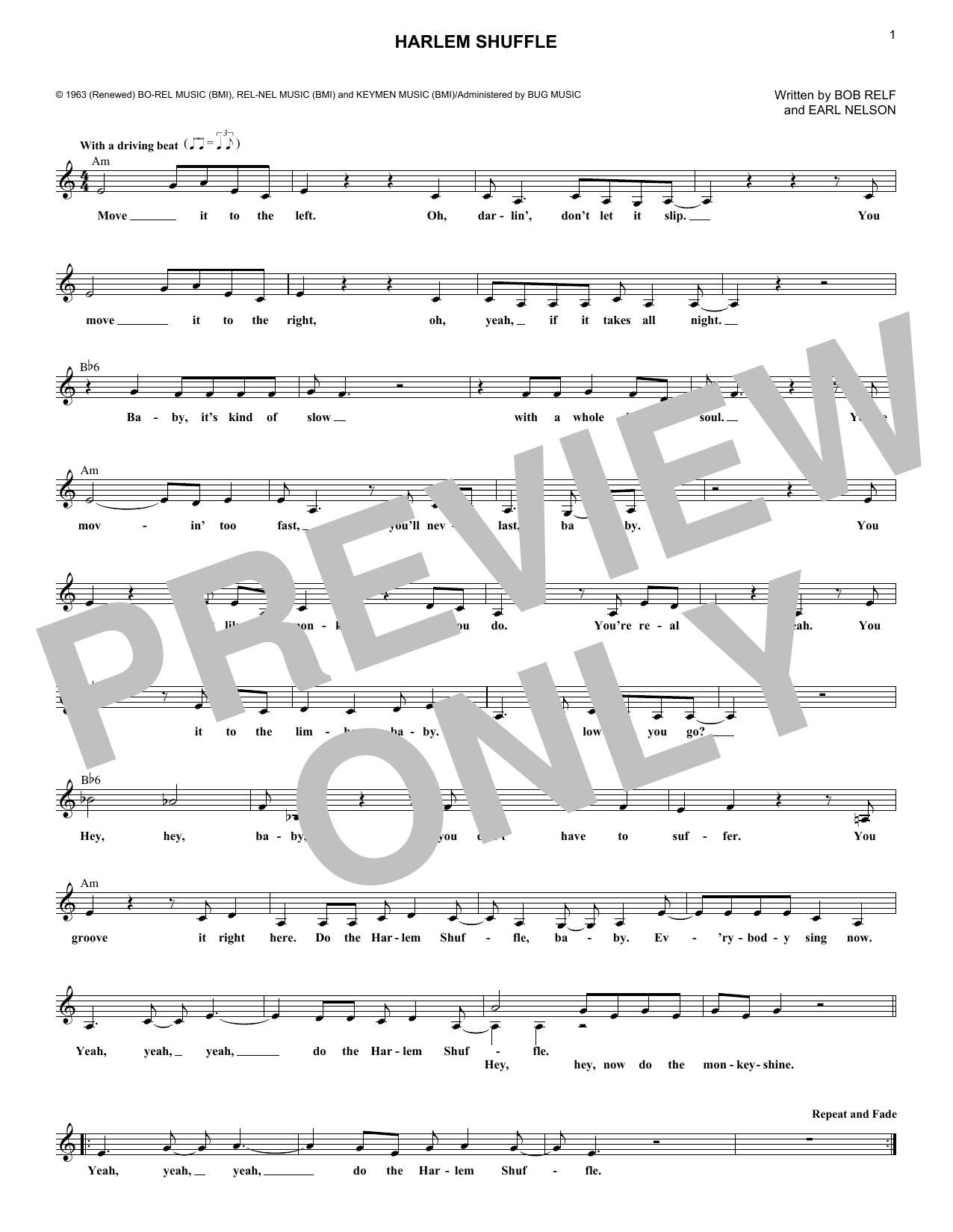 The Harlem Shuffle (Lead Sheet / Fake Book)
