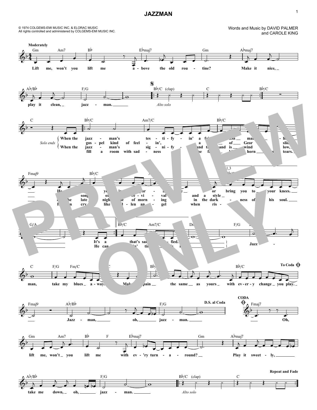 Jazzman (Lead Sheet / Fake Book)