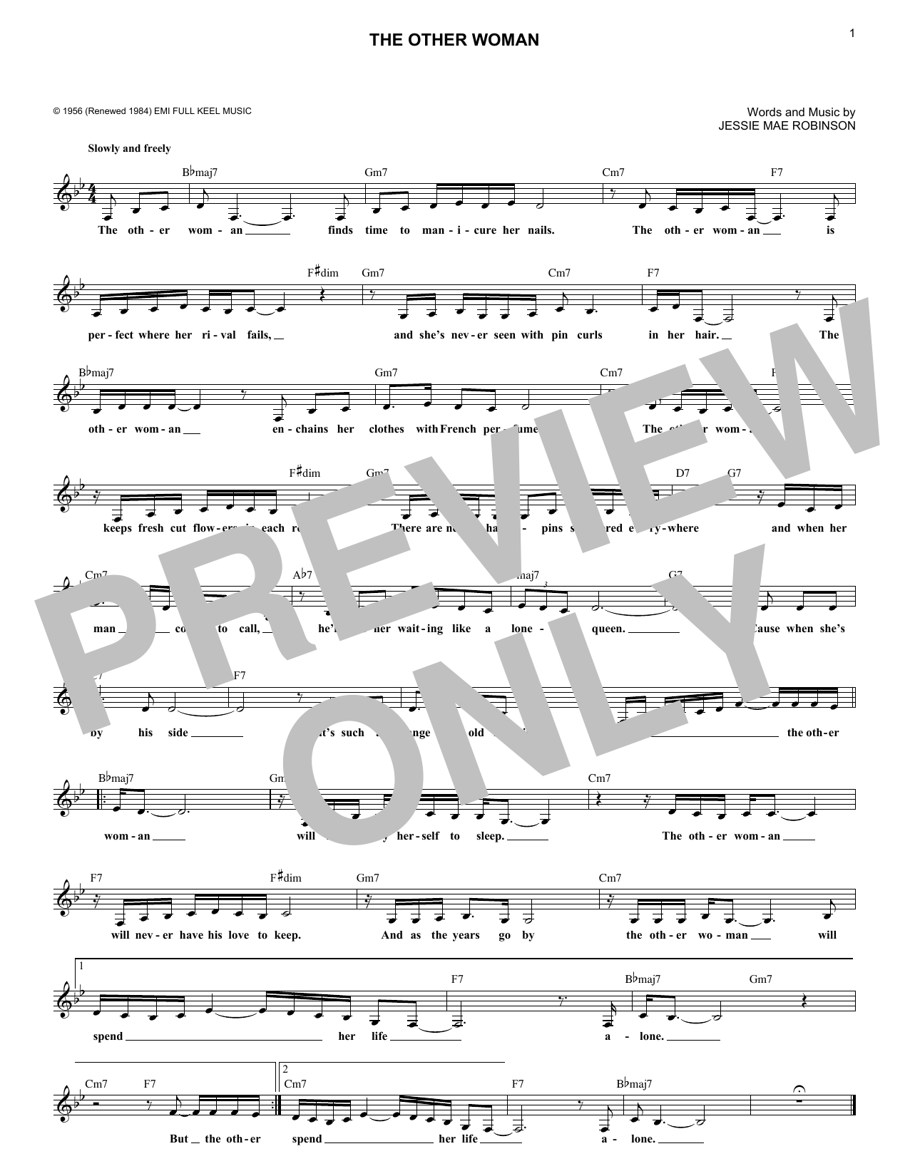 The Other Woman (Lead Sheet / Fake Book)