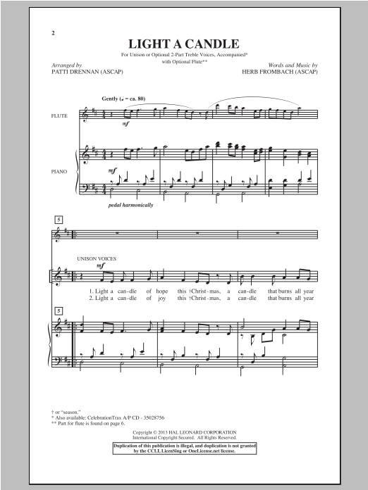 Light A Candle Sheet Music